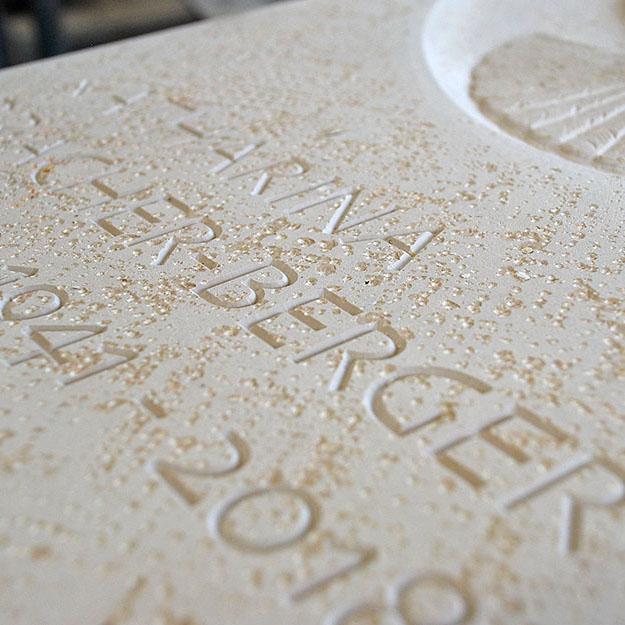 Inschrift auf Grabstein